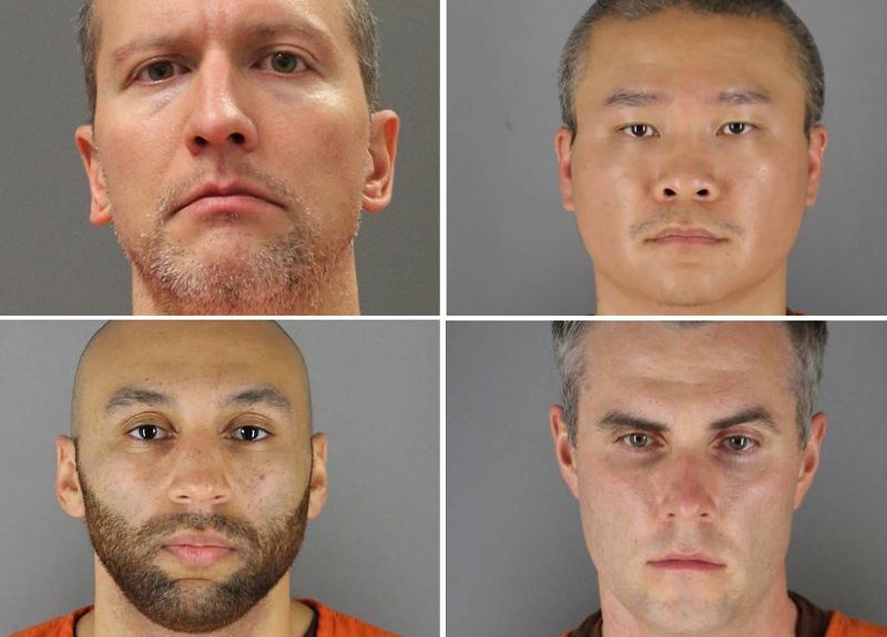 ABD'de gözaltı sırasında George Floyd'un ölümüne sebep olan 4 polis memuru hakkında hapis cezası istendi