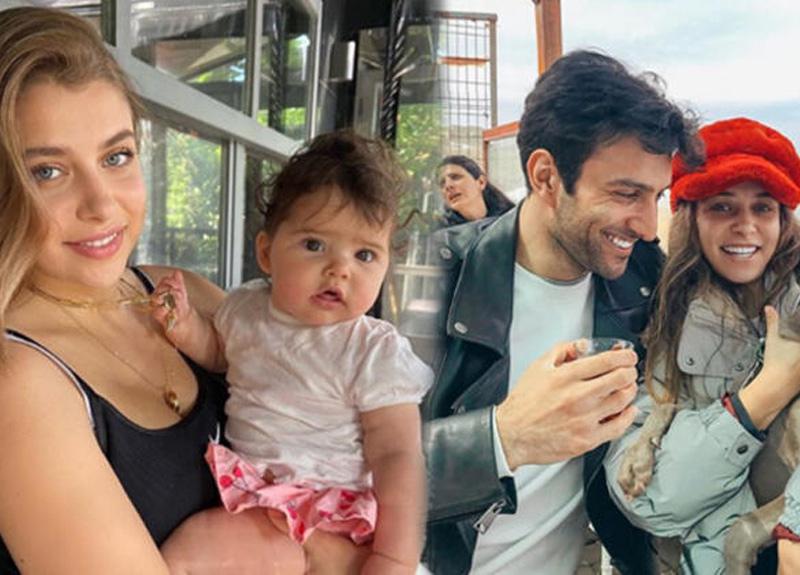 Hande Erçel'in ablası Gamze Erçel, kızı Aylin Mavi ile verdiği pozu sosyal medya hesabından paylaştı