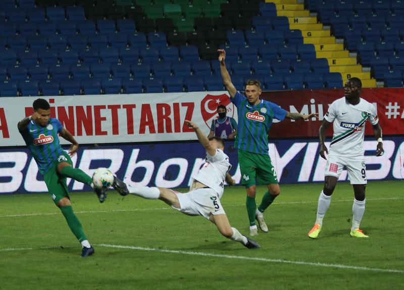 Çaykur Rizespor 2-0 geriye düştüğü maçta Denizlispor ile 2-2 berabere kaldı