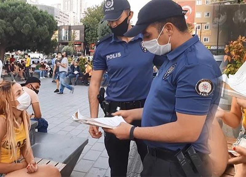 Esenyurt'ta polis ekipleri maske takmayan bir kadına 900 TL ceza kesti!