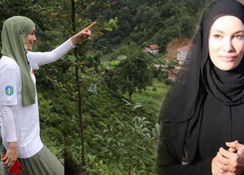Gamze Özçelik Rize'de yeşilliklerin içinde poz vererek burada ev yaptırma kararı aldı