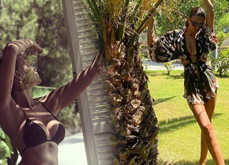 Mustafa Sandal'ın eski eşi Emina Jahovic bikinili fotoğrafını sosyal medya hesabından paylaştı