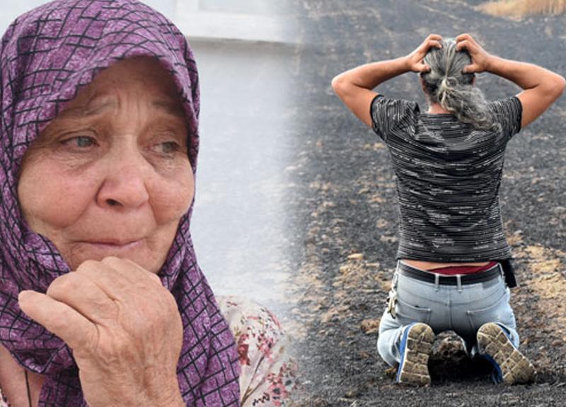 Çanakkale Gelibolu'daki yangından üzücü görüntüler: Mahsulleri yanan köylüler resmen yıkıldı