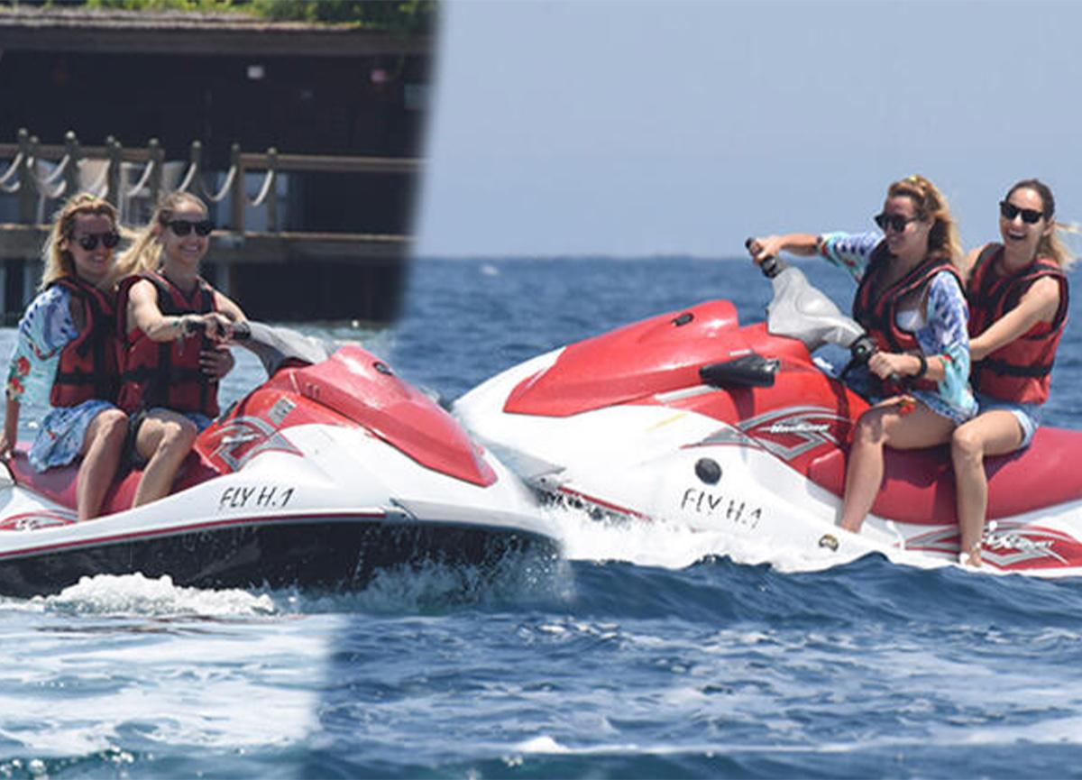 Bodrum'a tatile giden Brezilyalı oyuncu Jessica May, jet-ski şov yaptı!
