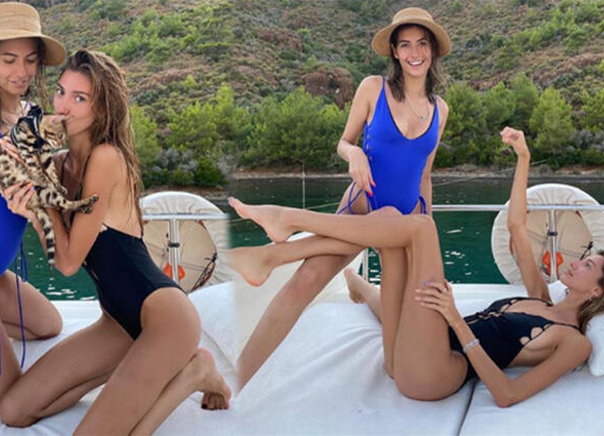 Eski Türkiye güzelleri Şevval Şahin ile Buse İskenderoğlu birlikte tatile çıktı!