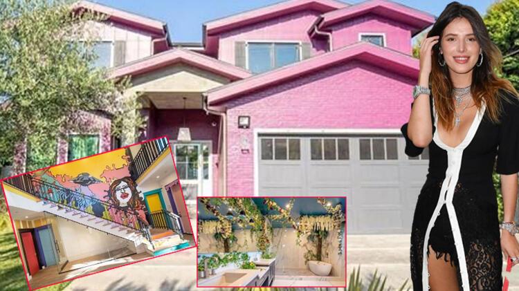 Bella Thorne'un rengarenk evi herkesi şaşırttı!