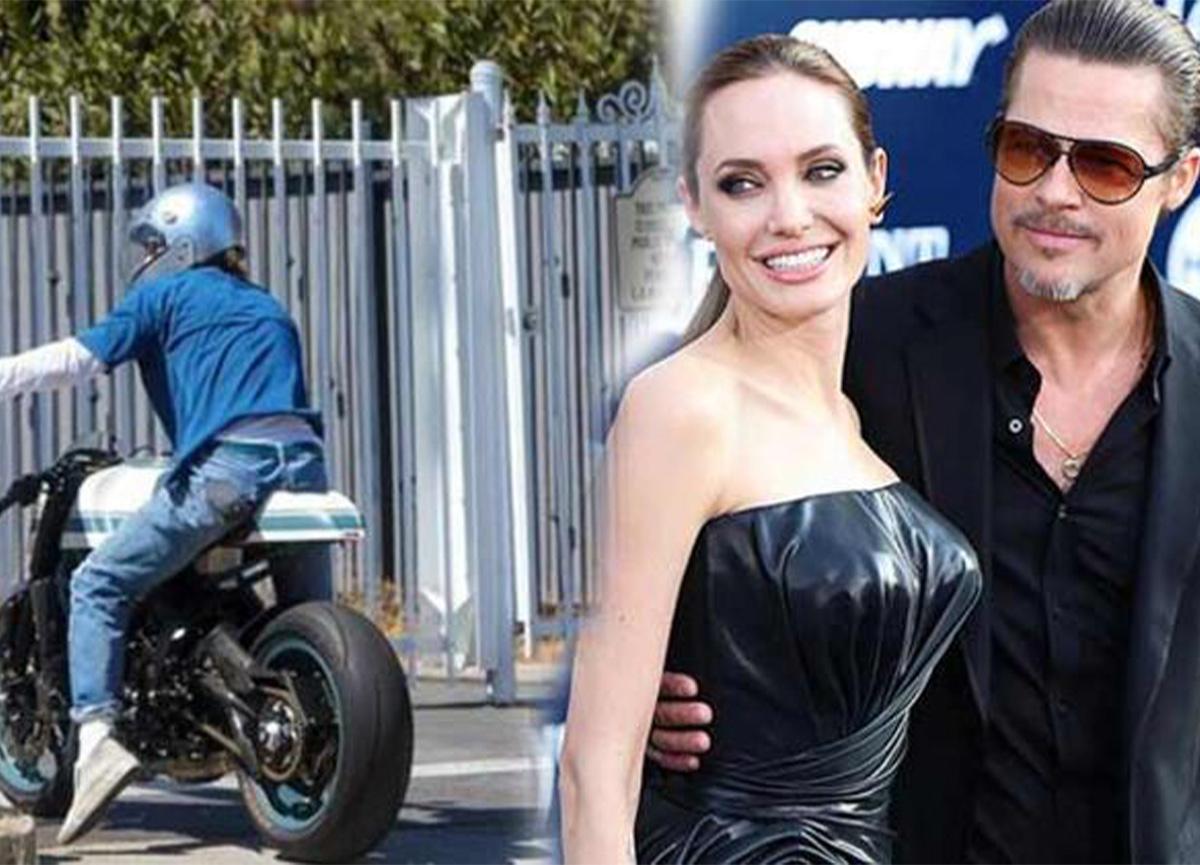 Brad Pitt, Angelina Jolie'nin evinden çıkarken objektiflere yansıdı!