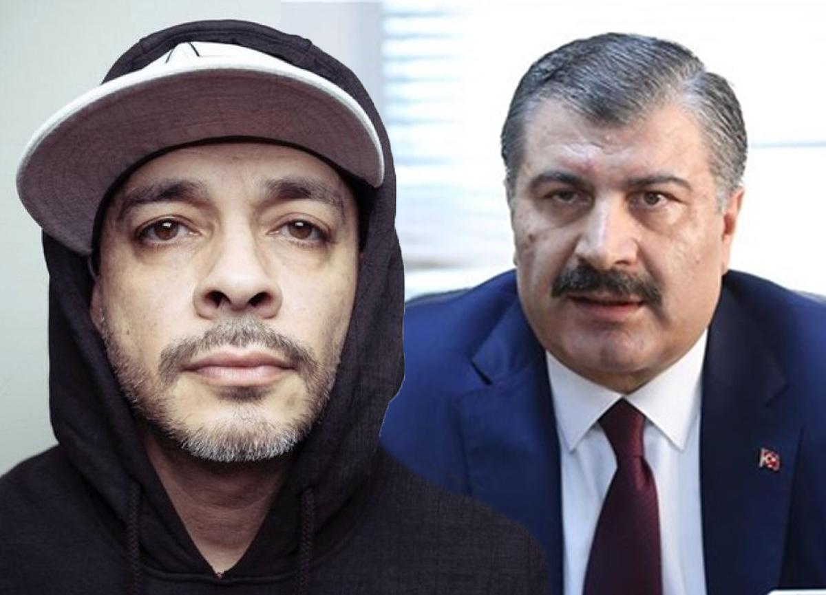 Rapçi Ceza'dan Bakan Koca'ya şarkılı gönderme! 'Bana yaklaşmayın'