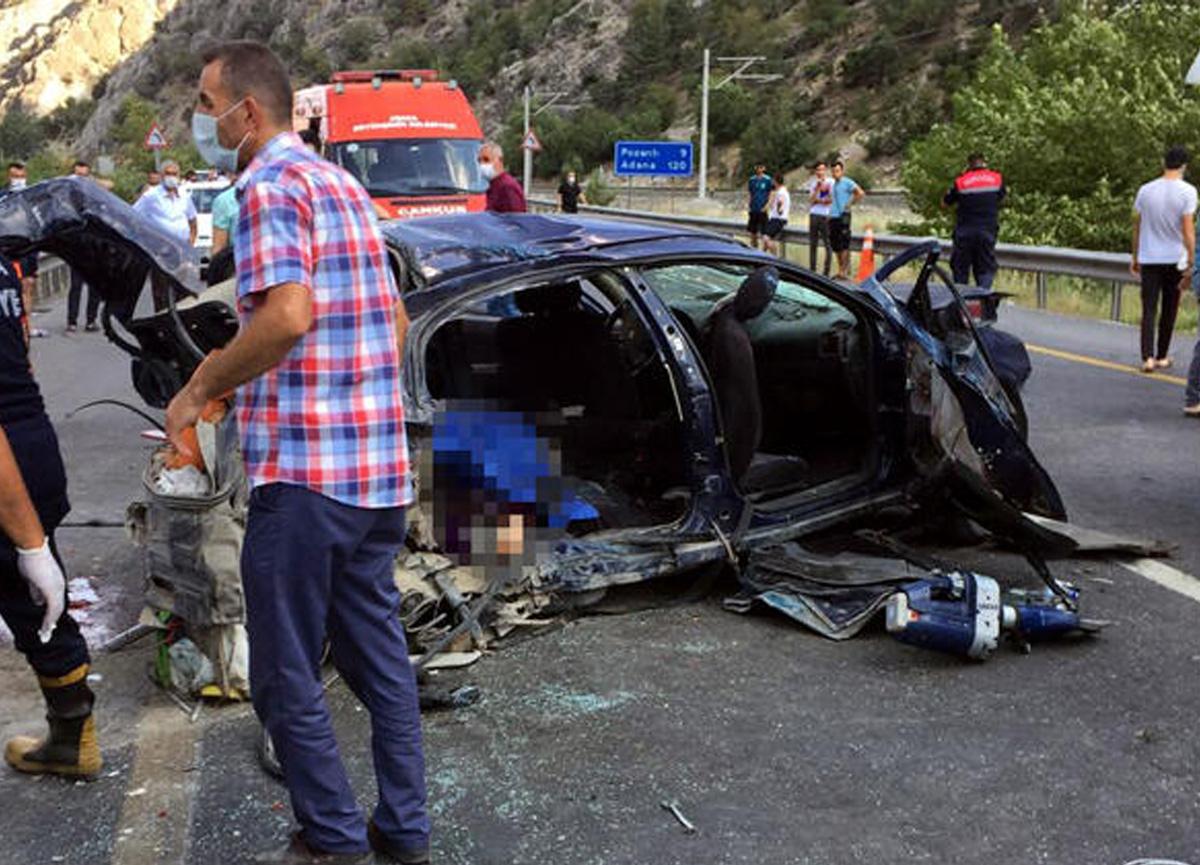 Adana'da feci kaza! 4 kişi öldü, 2 kişi yaralandı...