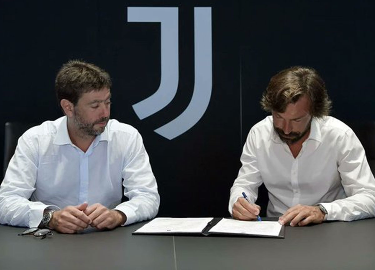 Juventus'ta Sarri'nin yerine Pirlo göreve getirildi