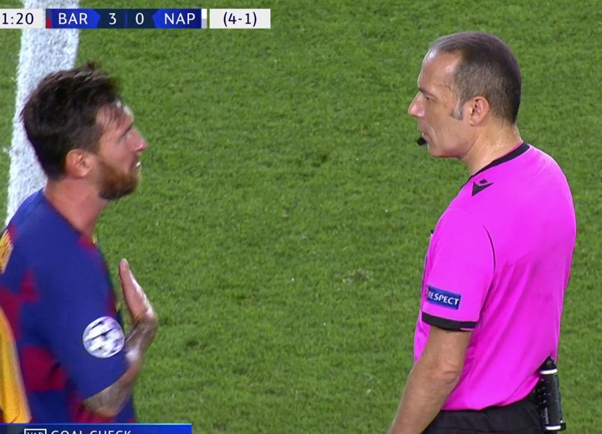 Messi'den Cüneyt Çakır'a şok tepki elini sıkmadı!