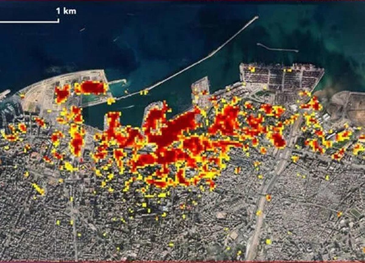 NASA paylaştı! İşte Beyrut'taki facianın uydu görüntüleri...