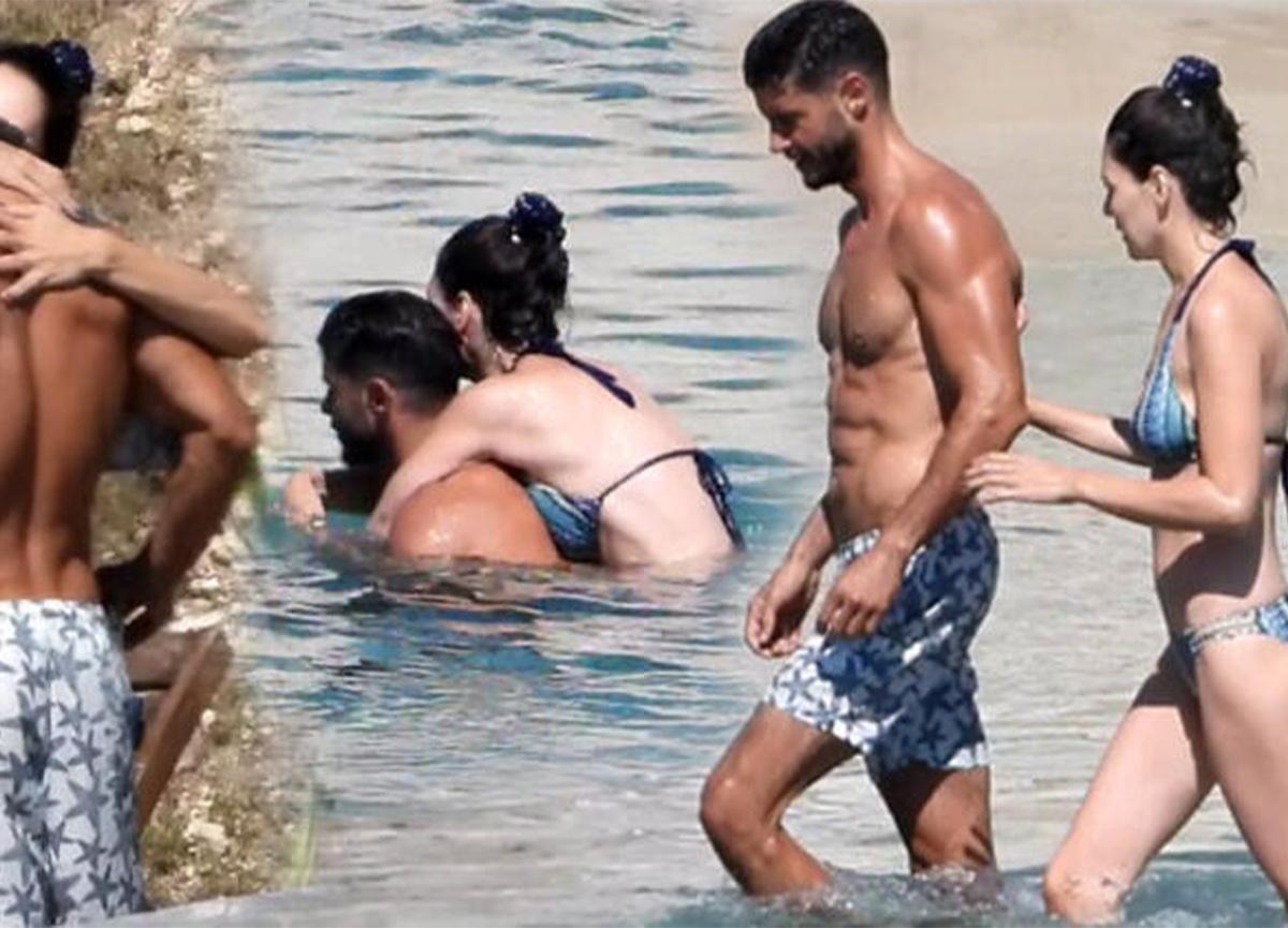 Yıldız Çağrı Atiksoy ile Berk Oktay çifti, Çeşme tatilinde!