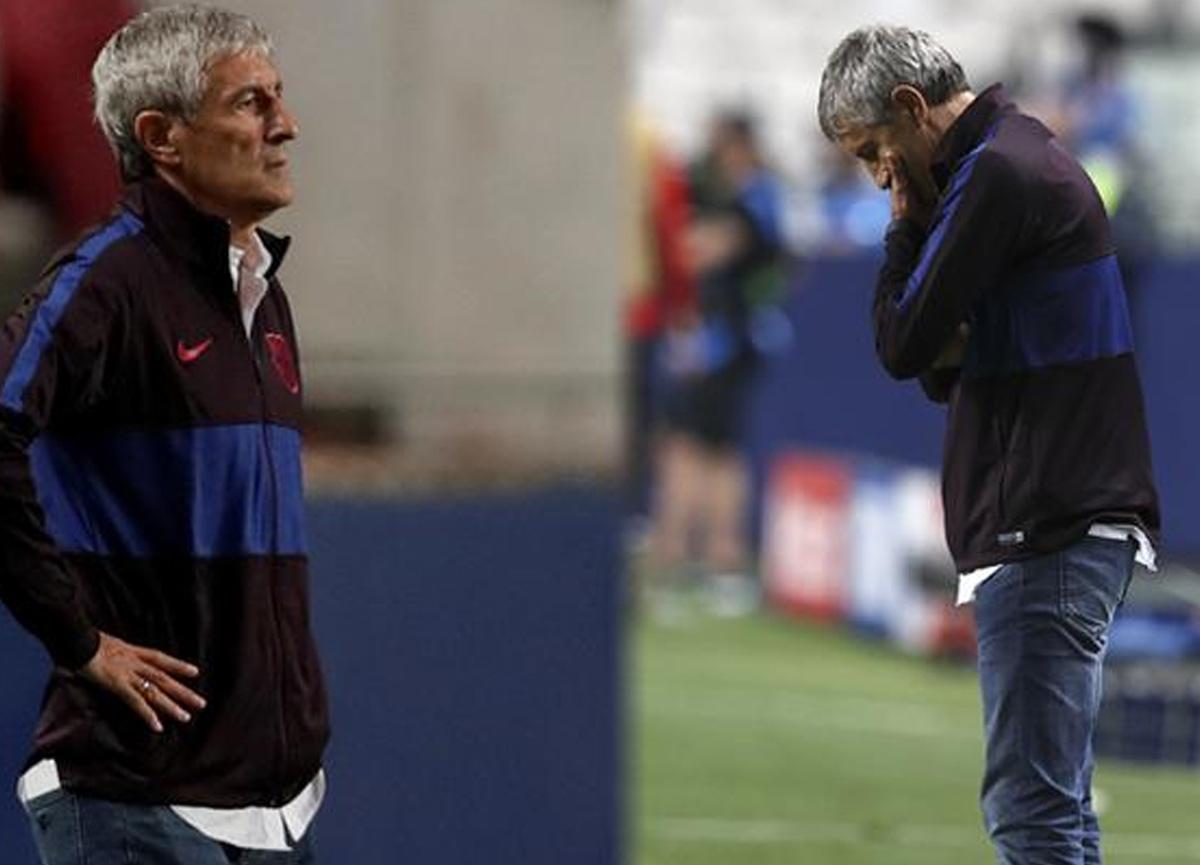 Tarihi hezimet sonrası Barcelona teknik direktör Quique Setien'in görevine son verdi