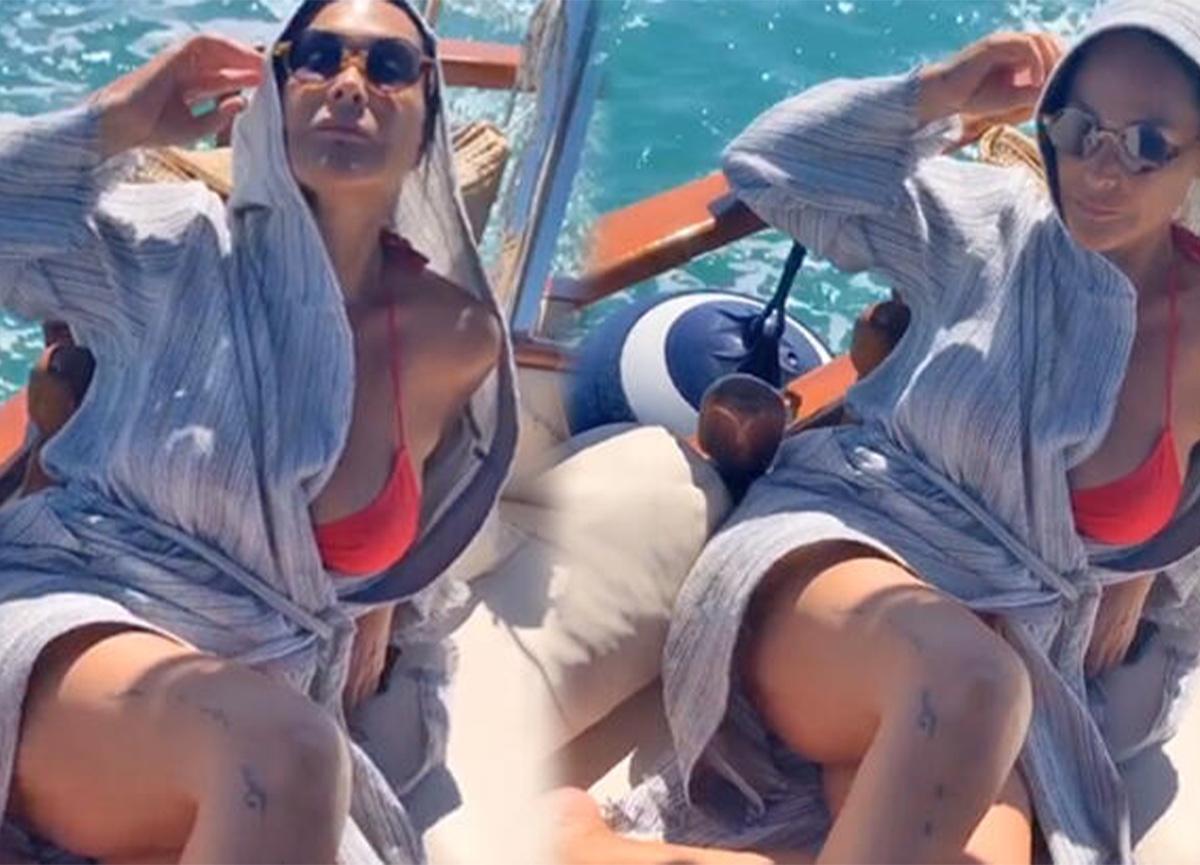 Hülya Avşar, tekneyle denize açıldı!