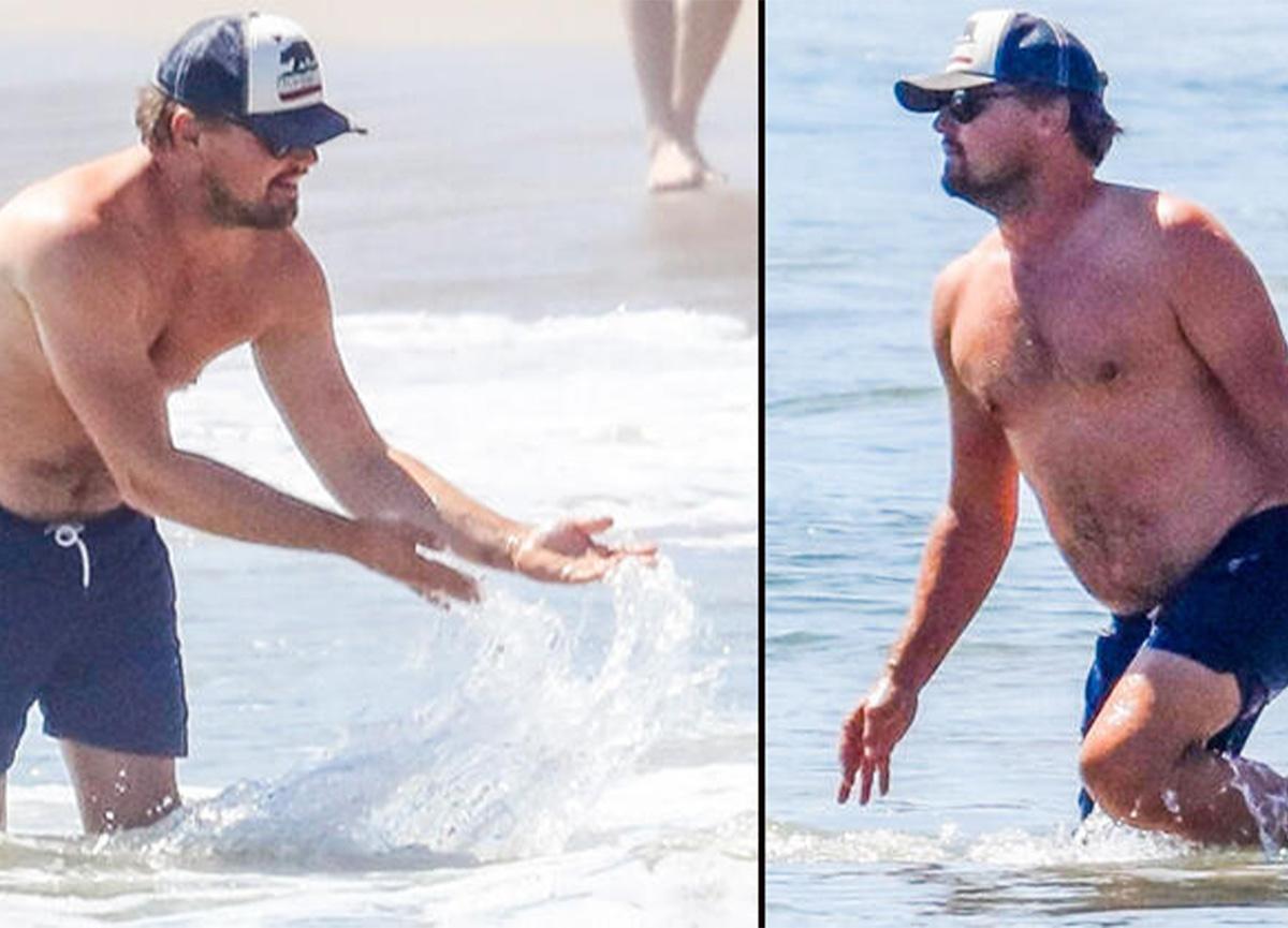 Ünlü oyuncu Leonardo DiCaprio, göbeğiyle objektiflere takıldı!