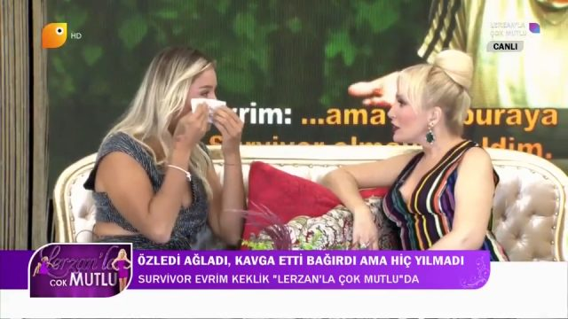 Survivor Evrim Keklik canlı yayında gözyaşlarına boğuldu