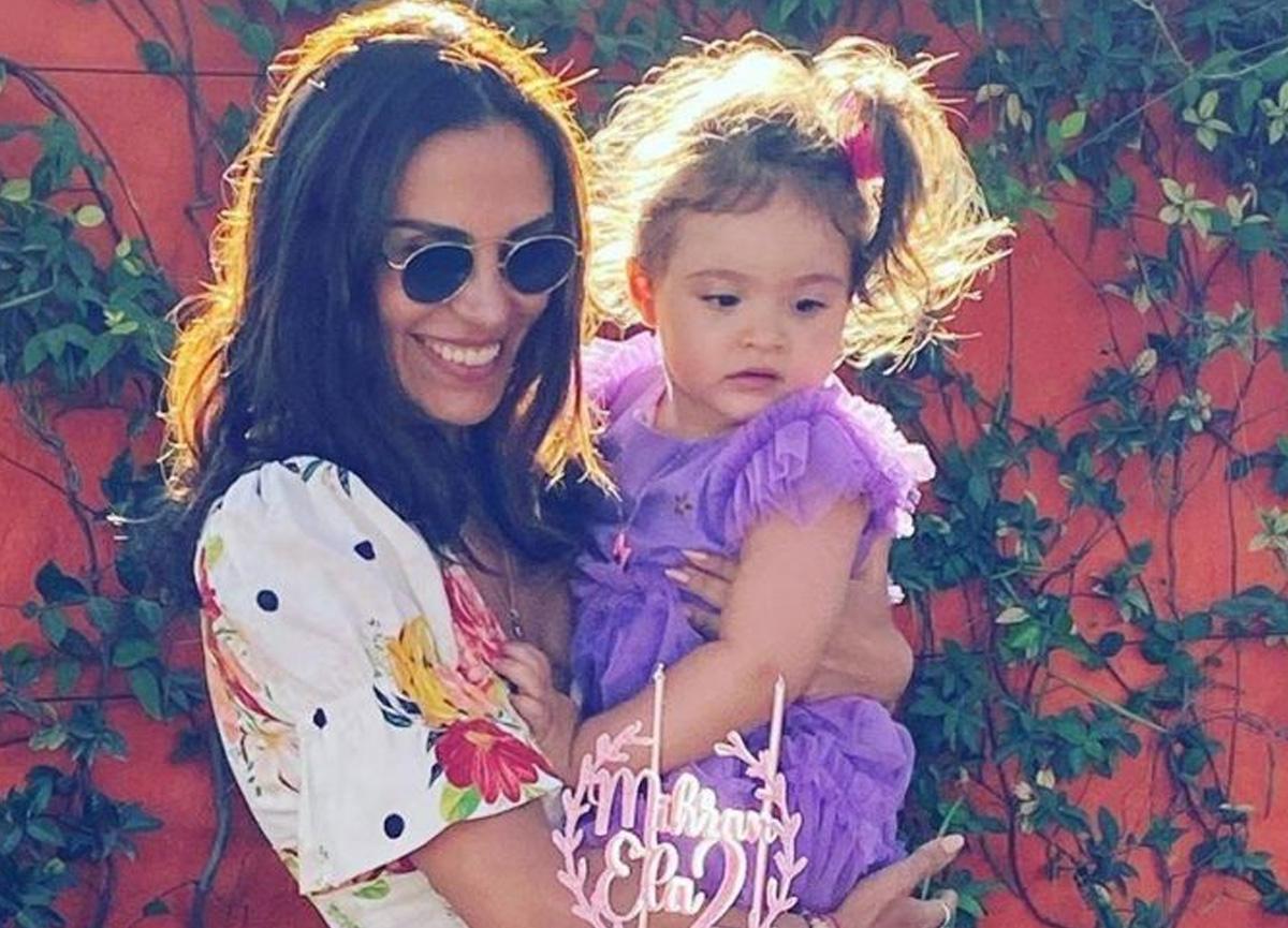 Caner Erkin ve Şükran Ovalı'nın kızı Mihran Ela 2 yaşına bastı