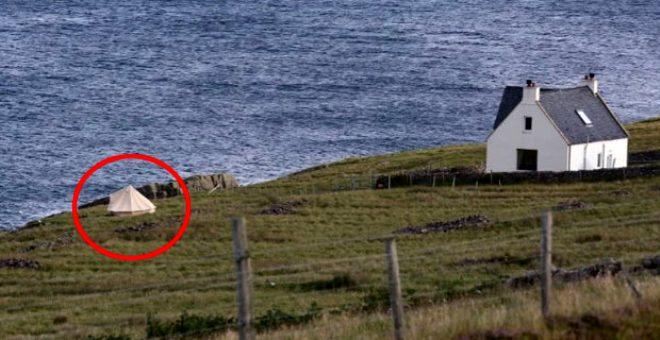 İngiltere Başbakanı Boris Johnson'ın çadırda tatil kaçamağı! Mütevazılığı ile takdir topladı