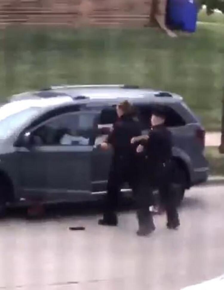 ABD'den şok görüntüler! Polis silahsız adama 7 el ateş etti