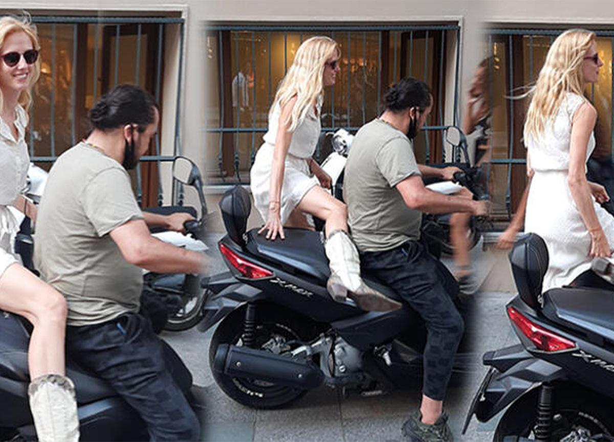 Wilma Elles, mini elbiseyle motosiklete binince frikik vermekten korktu!