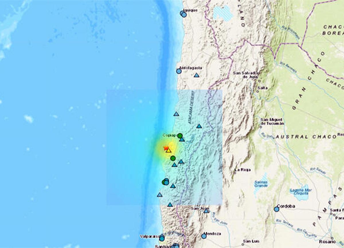 Şili'de peş peşe depremler!