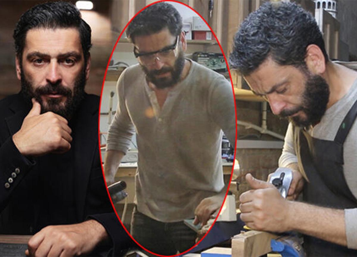 Oyuncu Ozan Akbaba, marangozculuk tutkusundan vazgeçemiyor!