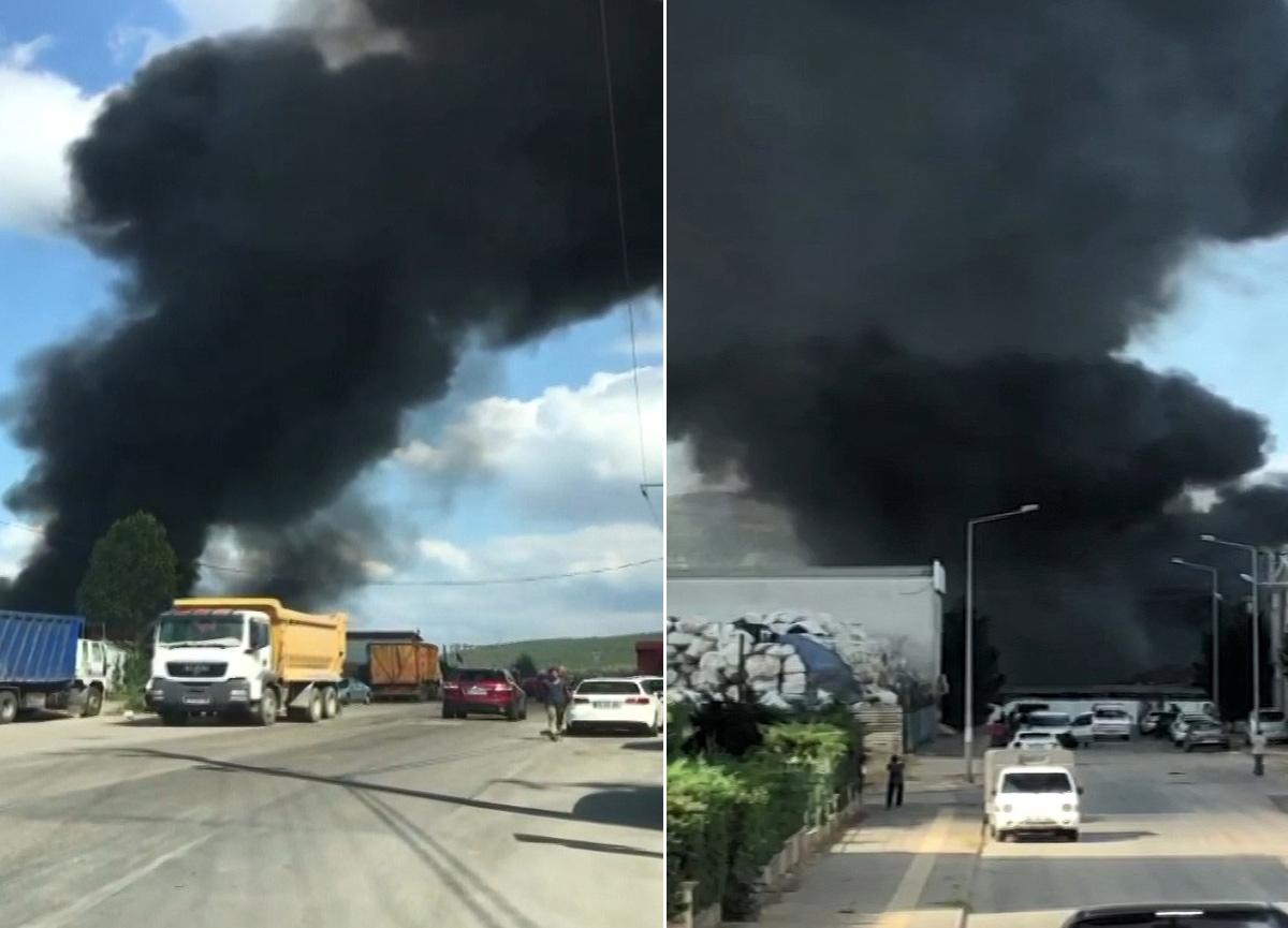 Bursa'da çöplük alanda çıkan yangın korkuttu