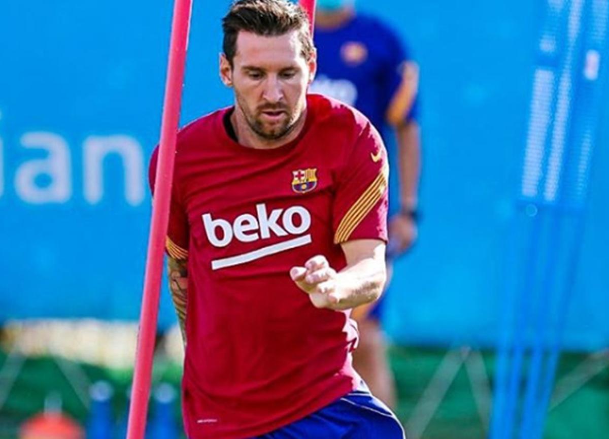 Lionel Messi, haftalar sonra Barcelona'da ilk idmanına çıktı