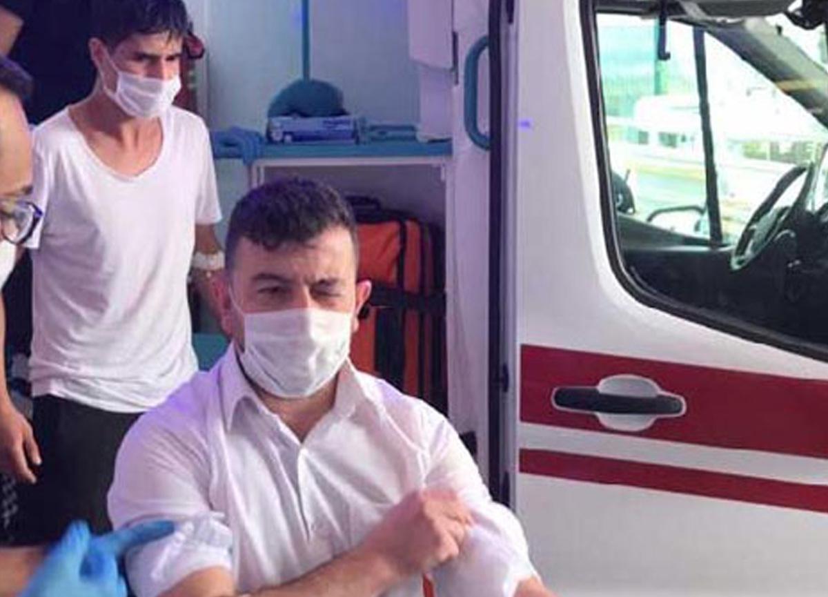 İzmir'de bir restoranda dezenfektan kutusuna yanlışlıkla kireç sökücü döküldü