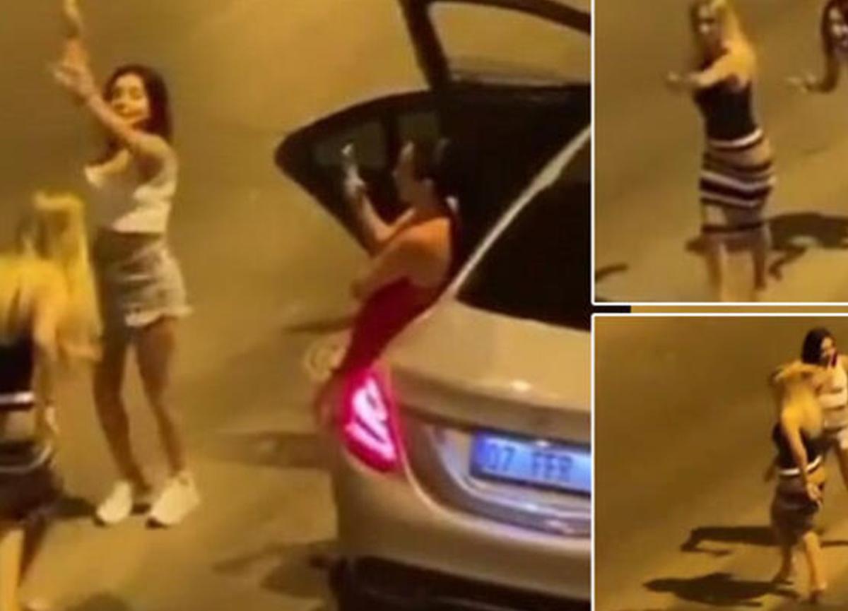 Antalya'da gece yarısı ilginç görüntüler! Eğlence sokağa taşındı!