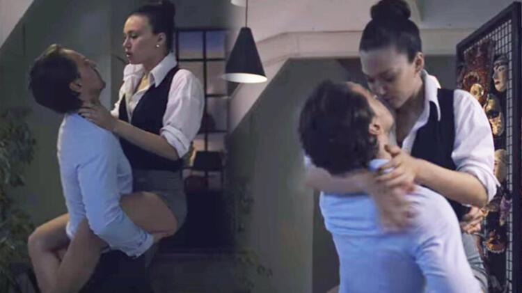 Melisa Şenolsun-Metin Akdülger'in öpüşme sahnesi damga vurdu
