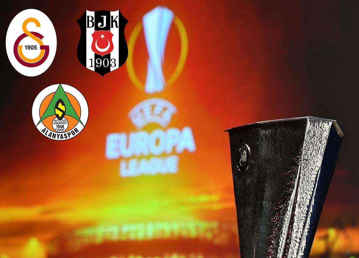 Galatasaray, Beşiktaş ve Alanyaspor'un UEFA Avrupa Ligi'ndeki rakipleri belli oldu!