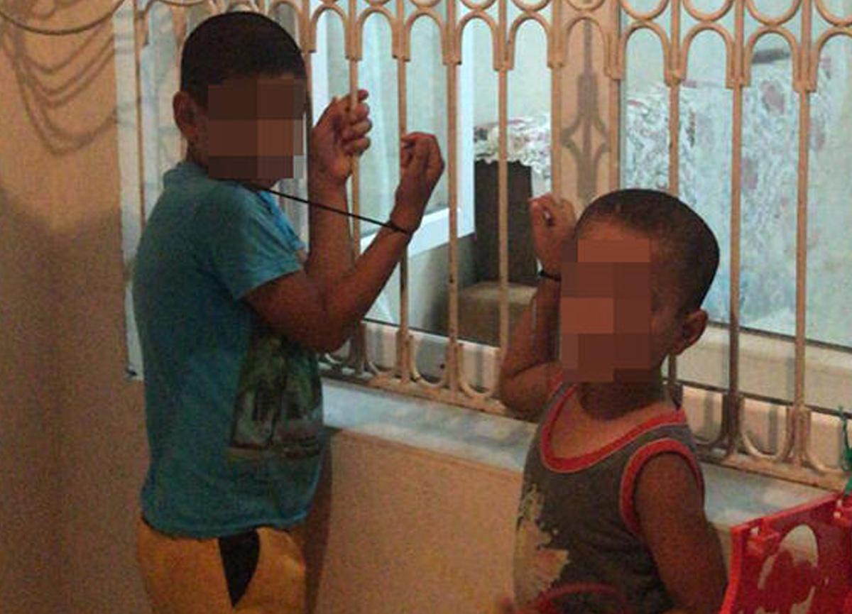 Adana'da kan donduran olay! Çocuklarını kaçırdı ve penceredeki demirlere bağladı...