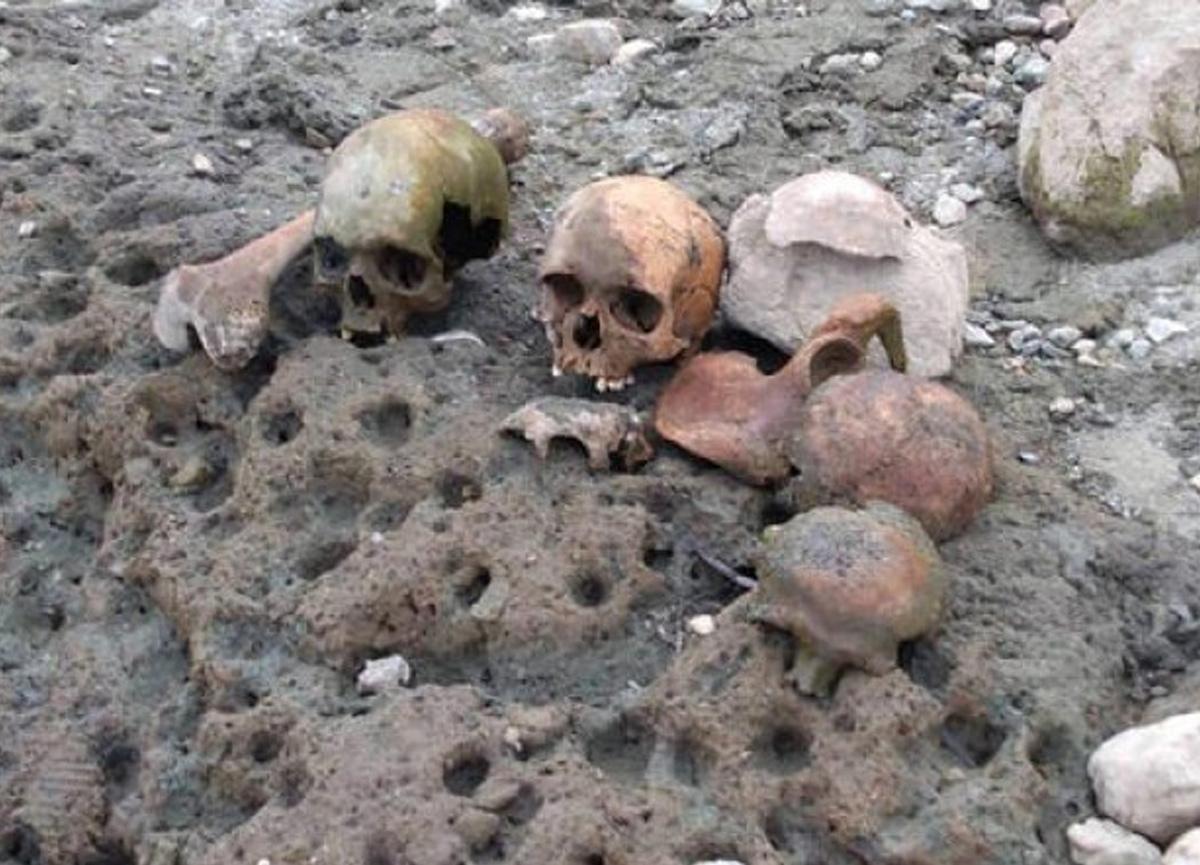 Çanakkale'de şoke eden görüntü! Gölet çekilince kafatası ve kemikler ortaya çıktı...