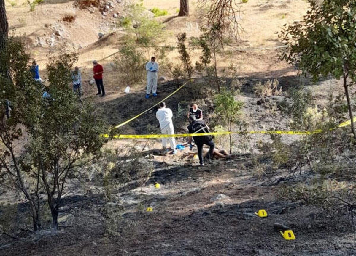 Antalya'daki orman yangınında yanmış erkek cesedi bulundu
