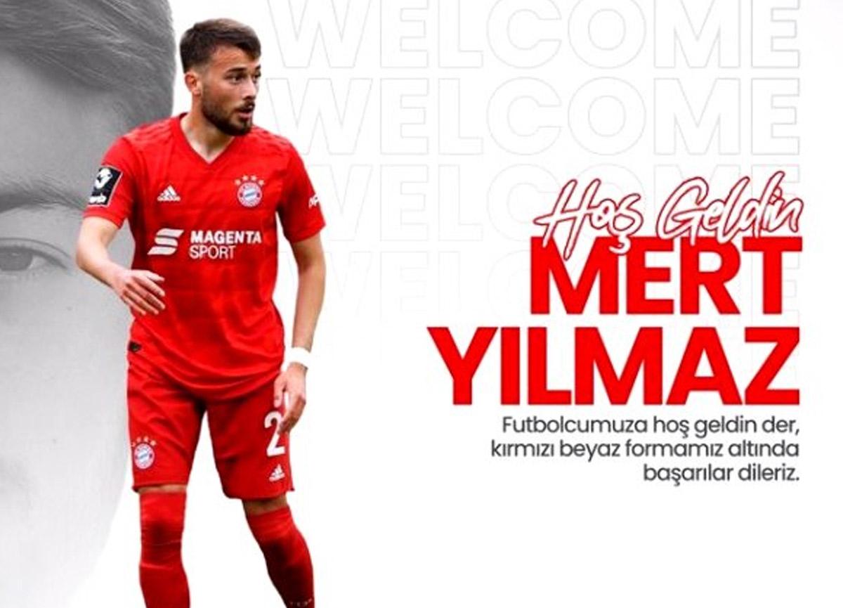 Antalyaspor, Bayern Münih'ten 21 yaşındaki Mert Yılmaz'ı kadrosuna kattı