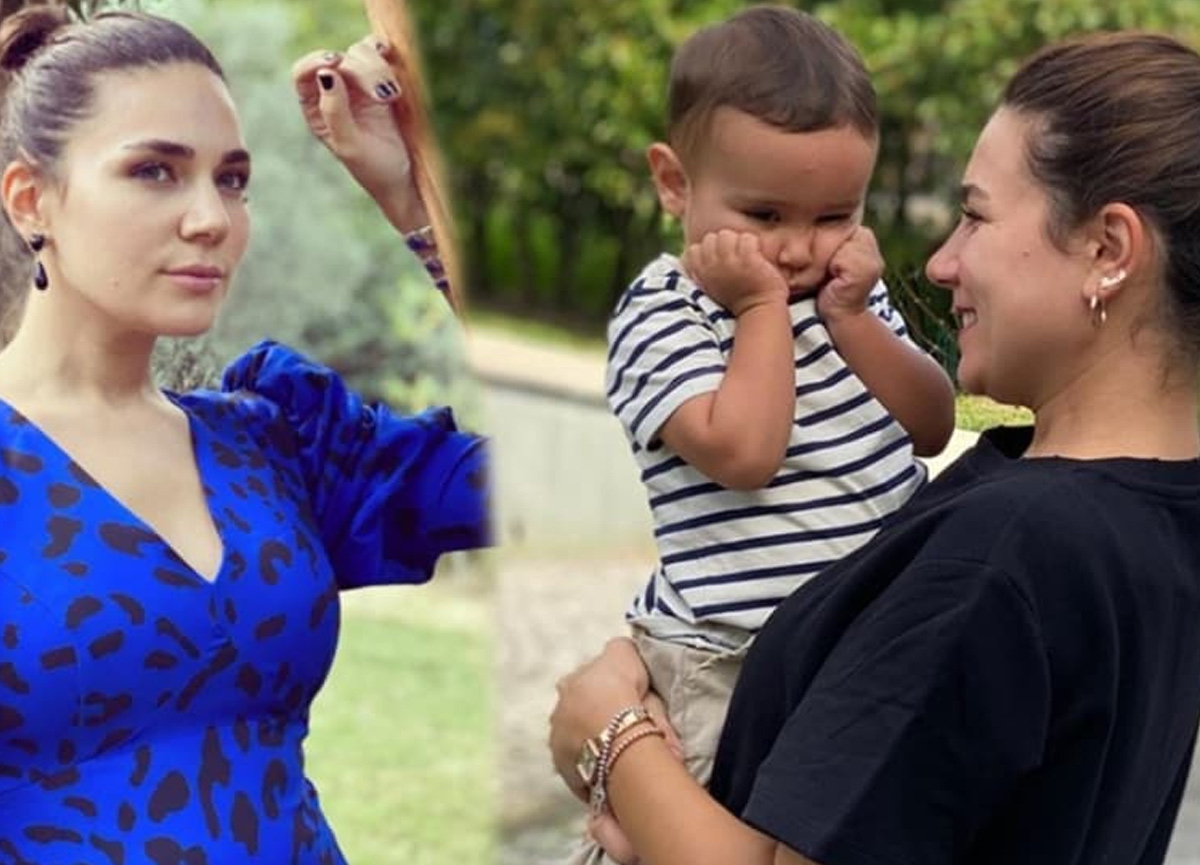 Alişan'ın eşi Buse Varol sosyal medya hesabından oğlu Burak ile olan bir karesini paylaştı