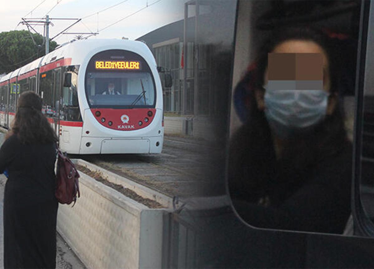 Tramvaya binmek istedi, HES kodu 'riskli' çıktı