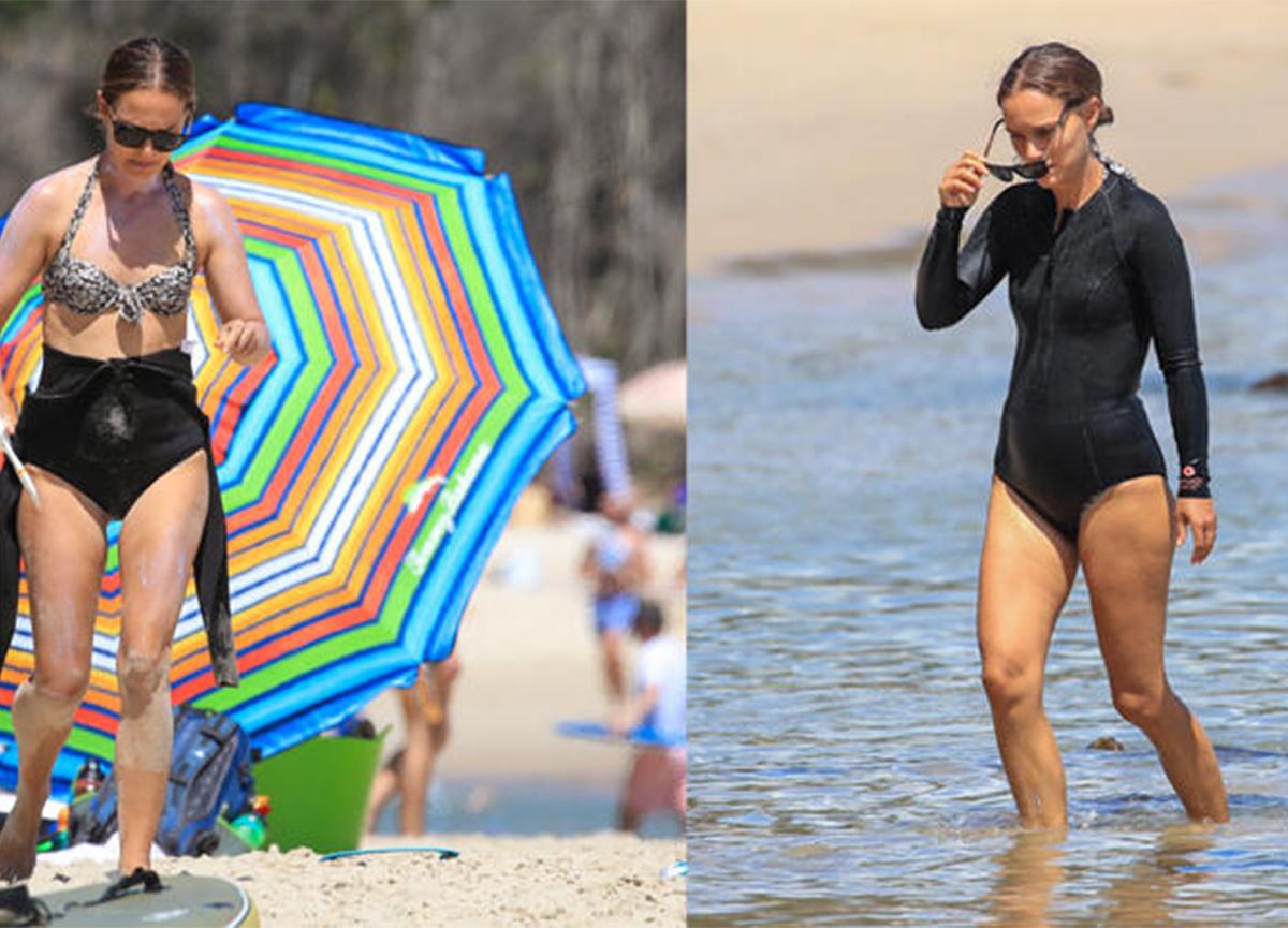 Ünlü oyuncu bikinili yakalanmamak için dalgıç kıyafeti giydi!