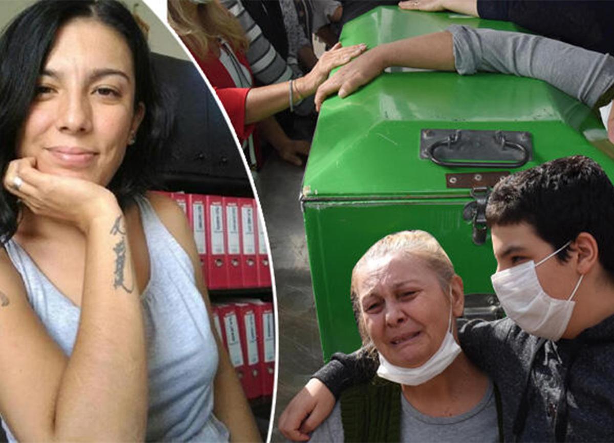 Eşi tarafından bıçaklanarak öldürülen Bihter'in cenazesinde gözyaşları sel oldu!