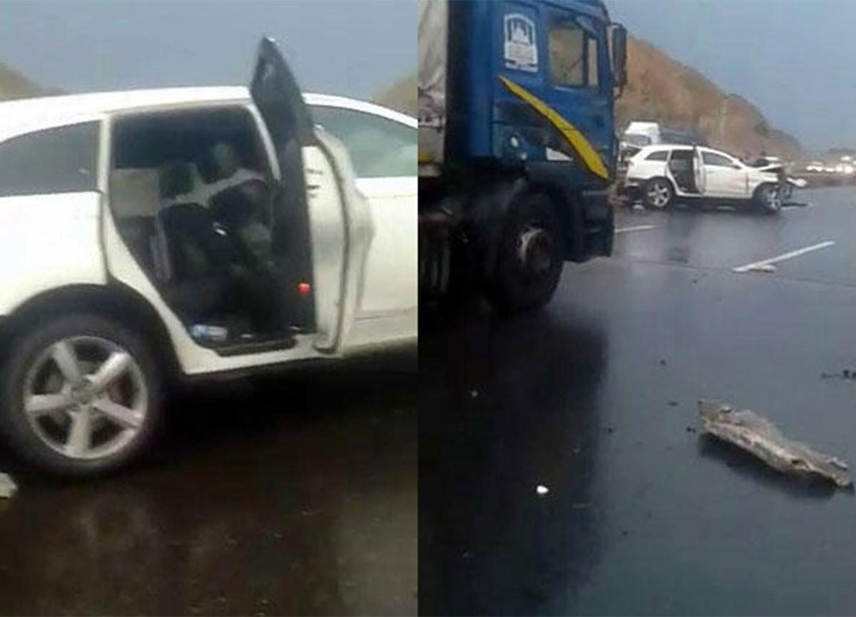Kuzey Marmara Otoyolu'nda feci kaza! Boğazına bariyer saplandı!
