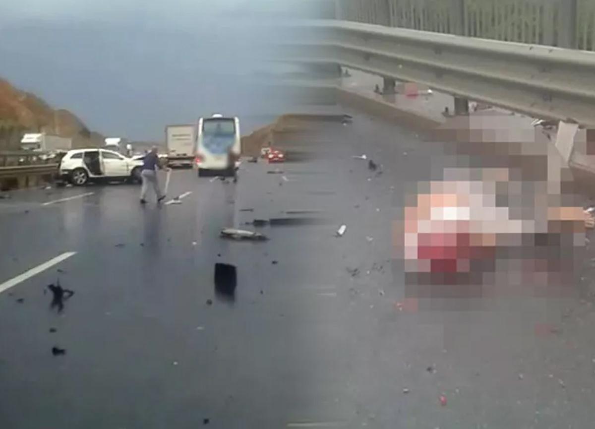 İstanbul'da korkunç kaza! Boğazına bariyer saplanan kişinin kafası koptu...
