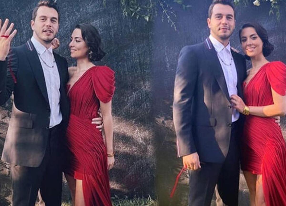 Oyuncu İsmail Ege Şaşmaz, sevgilisi Hande Ünal ile evlilik yolunda ilk adımı attı