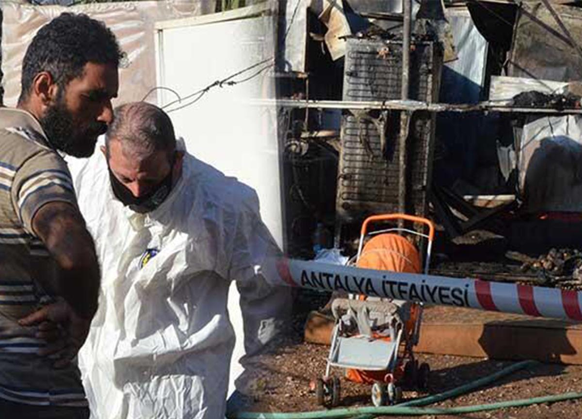 Antalya'da şok! 6 aylık bebek, yangında hayatını kaybetti