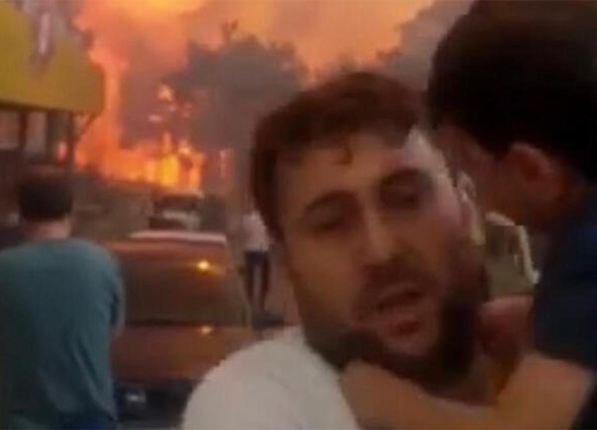 Hatay yangınında çocuklarını kucağına alıp kaçan baba konuştu!