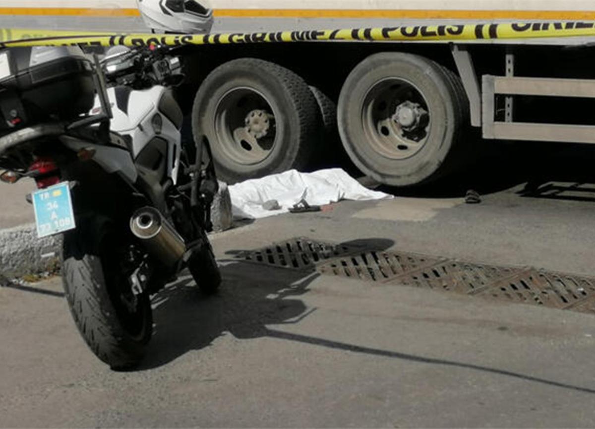 Cam silen çocuk kamyonun altında kalarak can verdi!
