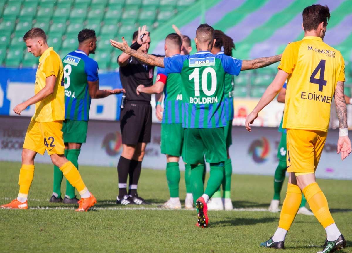 Çaykur Rizespor evinde Ankaragücü'nü 5-3 mağlup etti