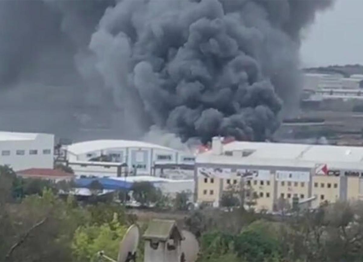 Son dakika: Silivri'de fabrika yangını!