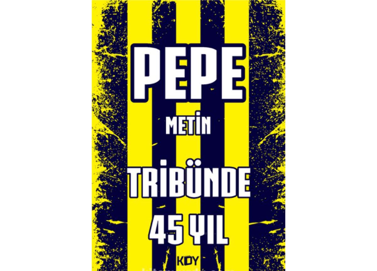 Fenerbahçe'nin sevilen amigosu Pepe Metin'in 'Tribünde 45 Yıl' adlı kitabı satışa çıktı!